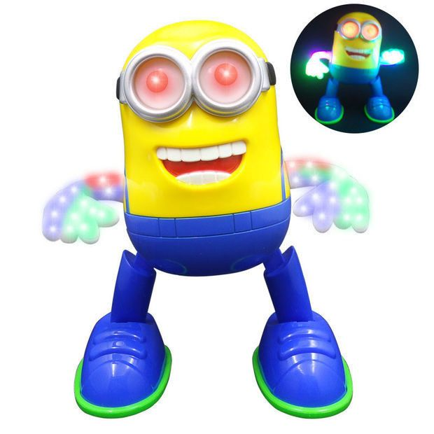 NEW! Despicable Me Minion Dancing Musical Llight Educational Electronic Toys Minions Action Figure Toys Doll Kids Christmas Gift