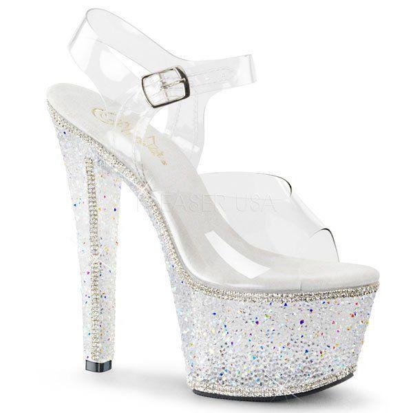 Pleaser BEJEWELED-708-2 Platform Sandal. FREE Shipping & Returns on Pleaser  heels