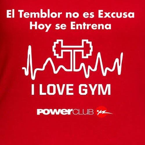 El #Temblor no es Excusa @powerclubpanama Hoy #Lunes se entrena  #YoEntrenoEnPowerClub #ElTemblorNoEsExcusa