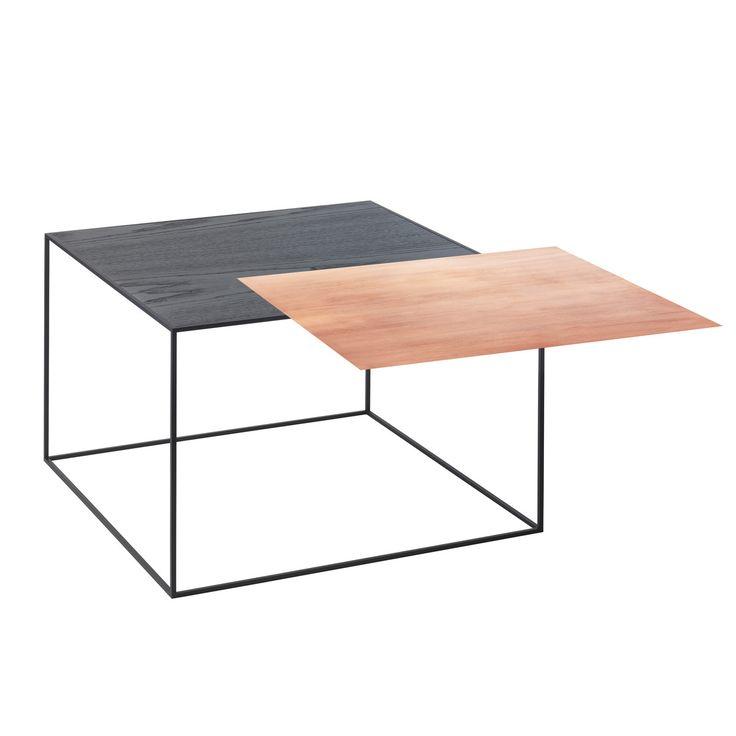 by Lassen - Twin 49 Beistelltisch, schwarzer Rahmen, Kupfer / schwarze Esche Jetzt bestellen unter: https://moebel.ladendirekt.de/wohnzimmer/tische/beistelltische/?uid=f612de5f-6216-5b9f-8fb5-7f320aa0bd21&utm_source=pinterest&utm_medium=pin&utm_campaign=boards #beistelltische #wohnzimmer #tische