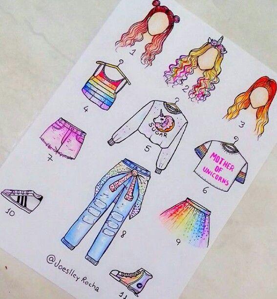 Wie üblich nimmt ein Hipster-, Grunge-, Regenbogen- und Kawaii-Mode-Outfit