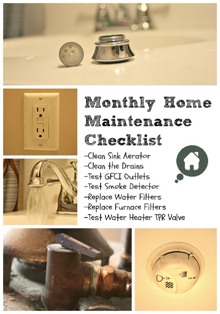Home projects checklist