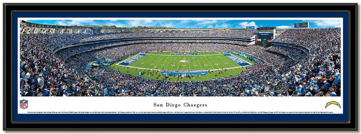 Qualcomm Stadium panoramic photo Home of the San Diego Chargers NFL football team