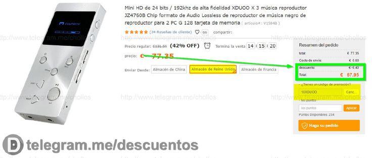 Reproductor MP3 XDUOO X3 por sólo 67 - http://ift.tt/2gLICwn
