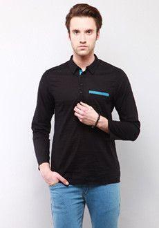 Yepme Leo Solid Kurta Shirt - Black