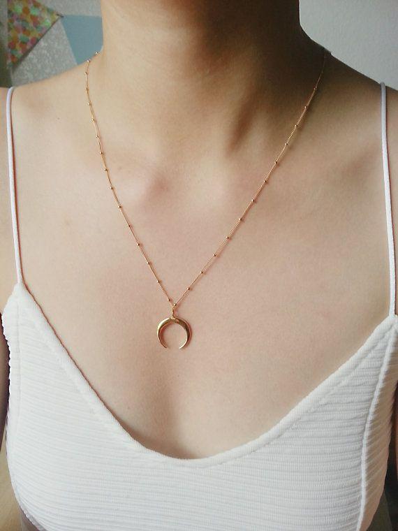 Collier de défense, Double collier en corne, collier corne d
