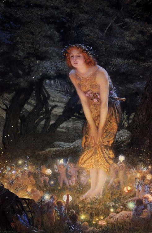 Arthur HUGHES Midsummer Eve