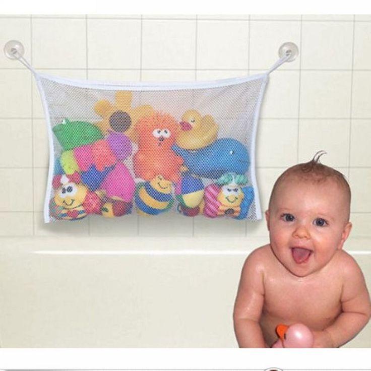 Hot Selling Kids Baby Bath Tub Toy Tidy Storage Suction Cup Bag Mesh Bathroom Organiser Net