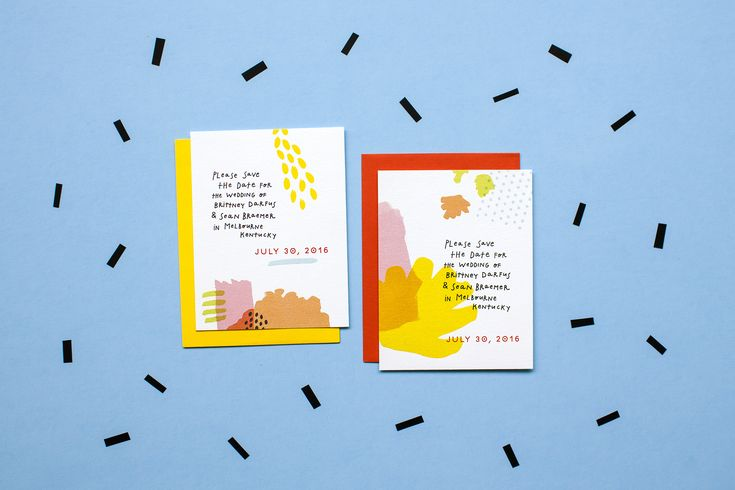 Colorful Fun Handwritten Paint Save The Date