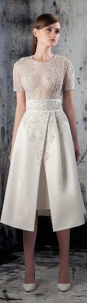 Basil Soda RTW F/W 2014-2015-Gorgeous white dress - www.adealwithGodbook.com