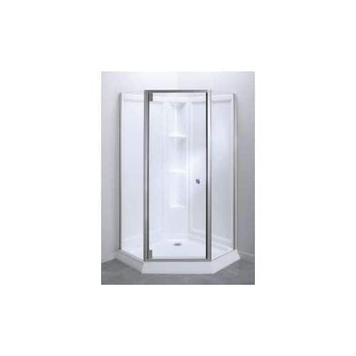 Sterling 2375-42 Solitaire 78-1/4 Framed Pivot Neo Angle Shower Door with Clean Coat (Silver Finish)