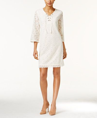 Style & Co Lace Peasant Dress, Only at Macy's