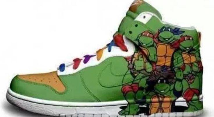 Customized Nike High Top Shoes Ninja Turtles Edition
