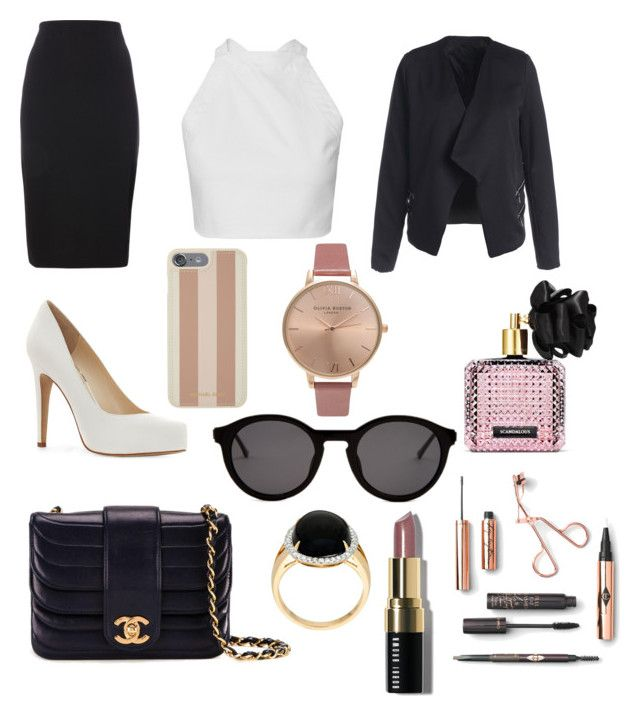 """Buisness babe"" by xsenna on Polyvore featuring mode, Jessica Simpson, Chanel, Michael Kors, Thierry Lasry, Olivia Burton, Bobbi Brown Cosmetics en Victoria's Secret"