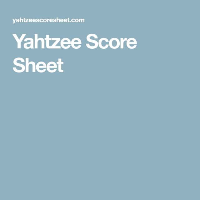 Best 25+ Yahtzee sheets ideas on Pinterest Yard yahtzee, Free - sample yahtzee score sheet