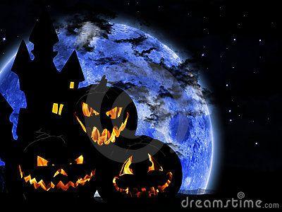 Halloween pumpkin on dark background