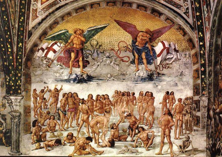 """Luca Signorelli - """"Resurrection de la chaire"""" (1499-1502). Chapelle San Brizio, Duomo, Orvieto."""