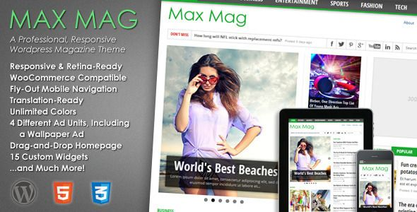 Max Mag v2.4 :- Grab this advance, elegant, and features loaded WordPress theme, which is perfectly made to craft an effective and fully functioning magazine, news and other niche websites