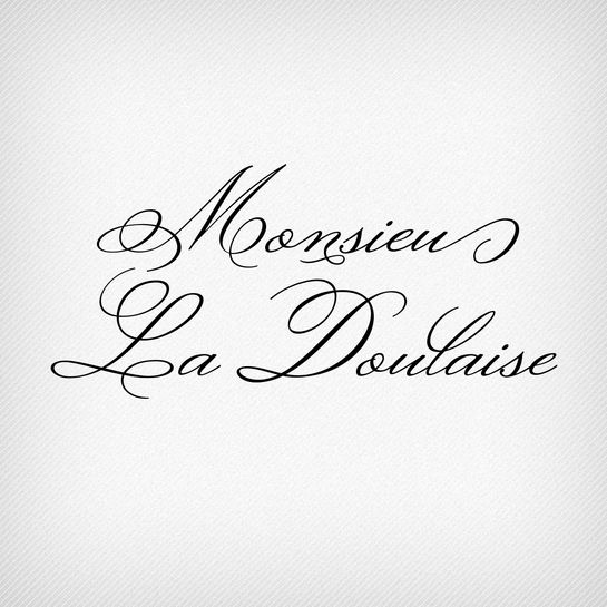 Monsieur La Doulaise Pro by Ale Paul. A typeface that is perfect for weddings.