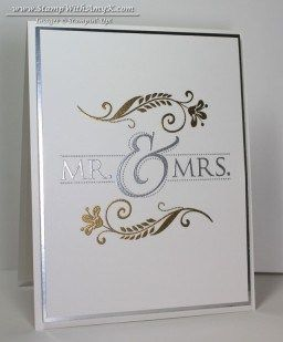 Mr. & Mrs. - Stampin' Up! - Stamp With Amy K