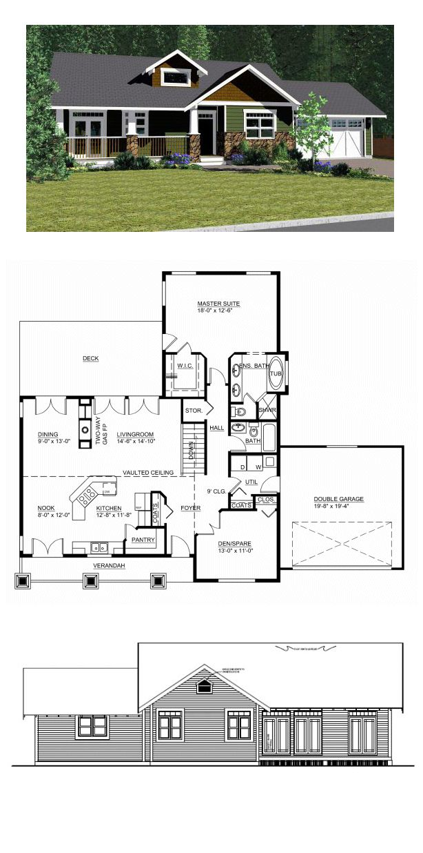 16 best ranch house plans images on pinterest | ranch home plans