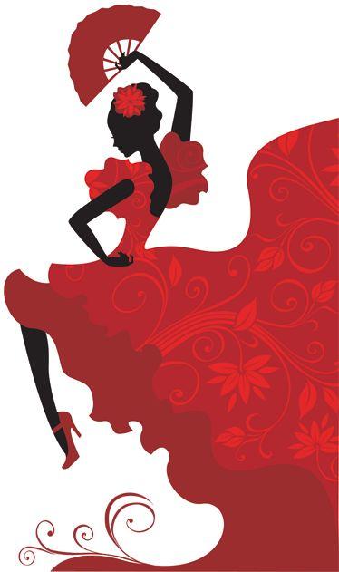 Vinilo dibujo bailaora flamenco