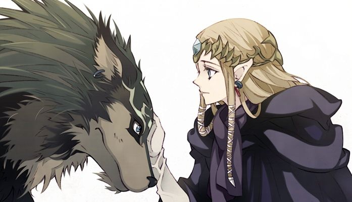 Wolf Link and Princess Zelda (from The Legend of Zelda: Twilight Princess) #GC #Wii