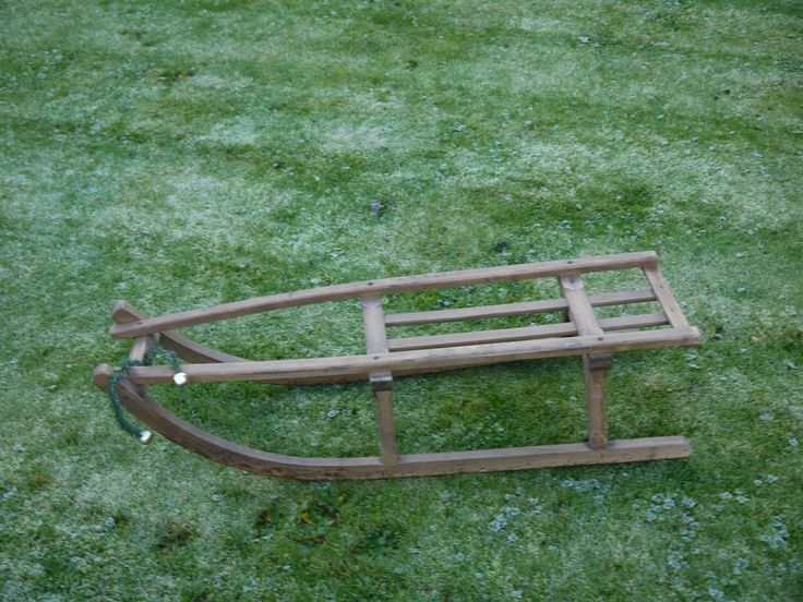 Vintage Wooden Sledge - Festive Decor by VintiqueTree on Etsy