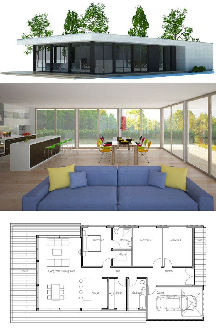 1000 images about House Plans Contemporary Modern Houses on