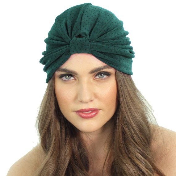 Slinky Green Full Turban   Stretch Knit Headwrap   Green Turban Headband    Kristin Perry 57091931e0f