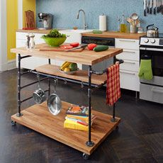 a finished butcher-block island on wheels -materials list and how to video form this old house