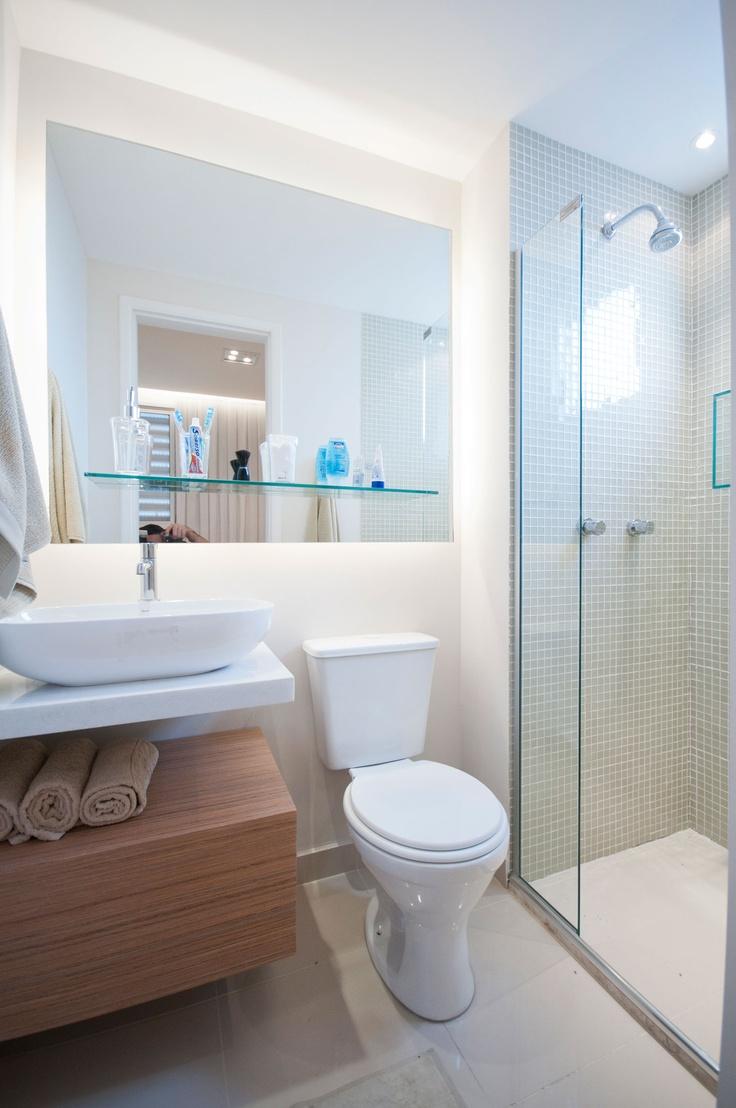 Banheiro Suíte Empreendimento Vita Parque / Vita Parque Suite Bathroom Part 48