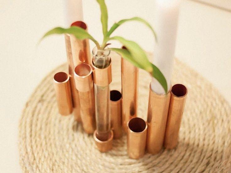 DIY-Anleitung: Kupfer-Kerzenständer selber machen via DaWanda.com