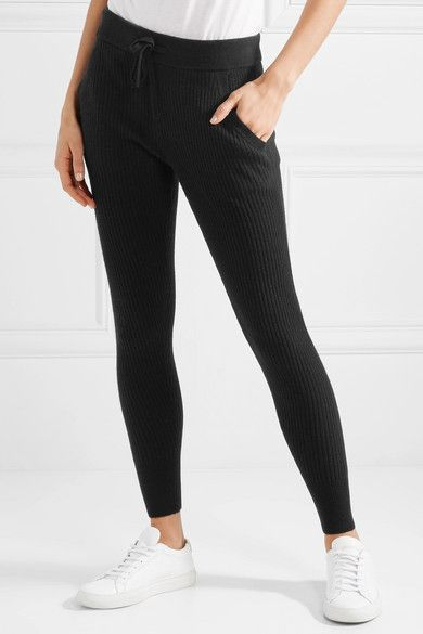 James Perse | Ribbed cashmere leggings | NET-A-PORTER.COM