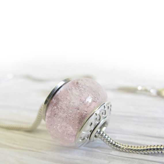 Cremation Jewelry Glass | Heirloom cremation jewelry. Memorial glass bead necklace with ashes of ...