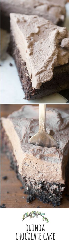 Delicious Quinoa Chocolate Cake - A decadent chocolate cake with a secret healthy ingredient! | theviewfromgreatisland.com