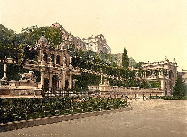 Budapest in 1895 - old postcard from the USA National Library