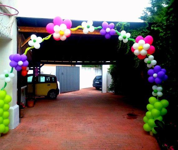 Arco floral de globos