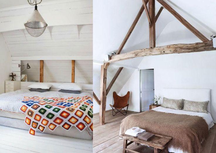 Op zoek naar inspiratie en idee n voor een zolder slaapkamer wij geven 10 tips hoe je de zolder - Slaapkamer met zichtbare balken ...