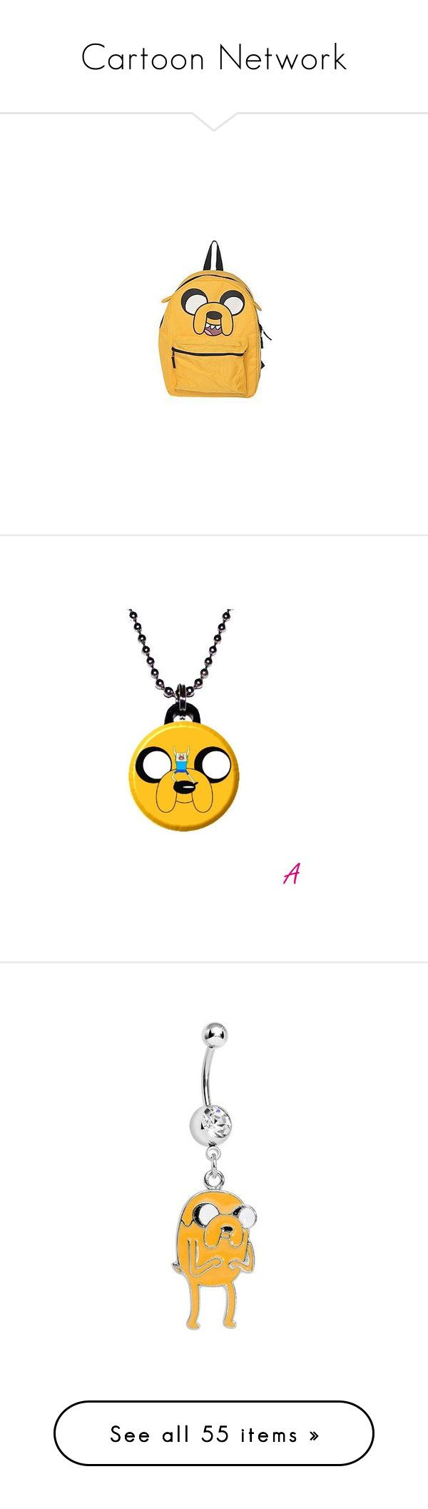 """""""Cartoon Network"""" by poison-kisses ❤ liked on Polyvore featuring bags, jewelry…"""