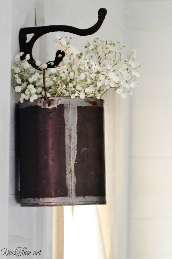 Repurpose a paint can into a hanging flower pot - KnickofTime.net