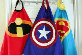 Super Hero Capes; including logo pattern for batman and cape pattern