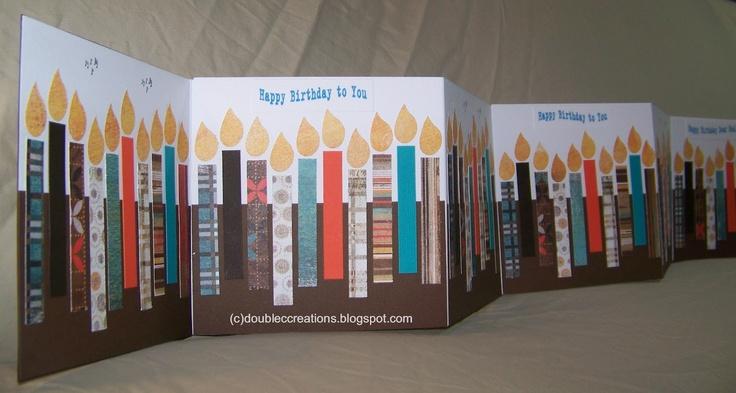 Birthday card...90 candles for 90th birthday...acordian fold...
