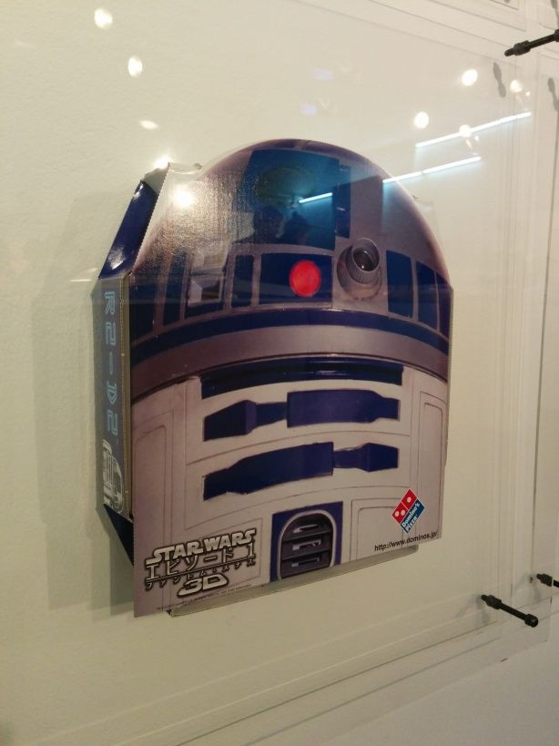 My favorite #pizza box. The Japanese #R2-D2 #starwars commemorative box