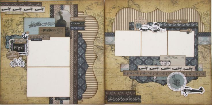 Double page layout kit...perfect for summer travels.
