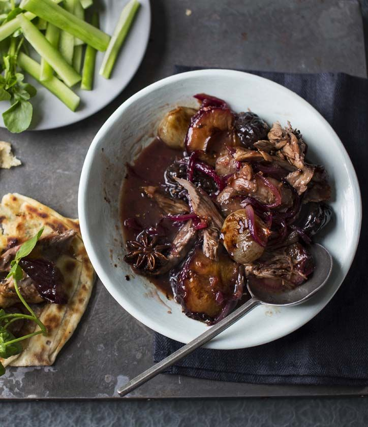 Nigel Slater's Chinese-style duck with spiced chutney goes down a treat slathered over homemade flatbreads