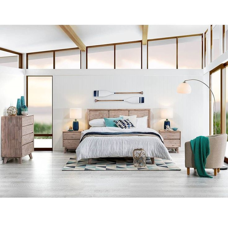 Here we are! Here is our stunning mid century beachy look all complete! I don't know about you but I could easily spend hours in this space! Today weve featured the Portland bedding range cushions vases and accessories from the new winter collection in stores soon! And our fab oars from @coastalvintage. Huge thank you to the team at Super Amart for having me today - we hope you enjoyed and dont forget to enter the comp to win a $1000 gift card to get your bedroom looking super stylish…