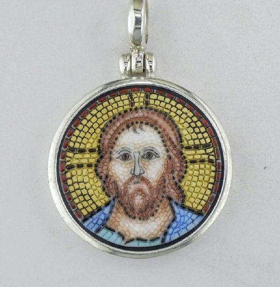 Check out this item in my Etsy shop https://www.etsy.com/uk/listing/484046640/jesus-christ-micro-mosaic-pendant-in