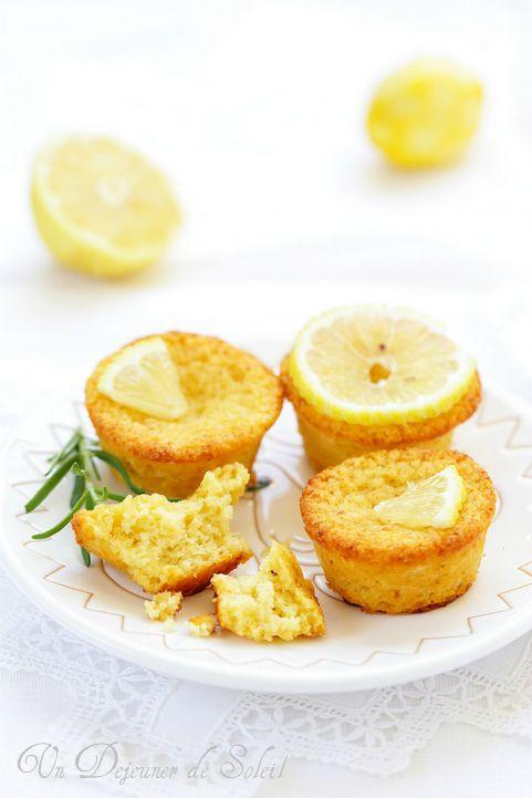 Gâteaux moelleux au citron et aux amandes (sans gluten)