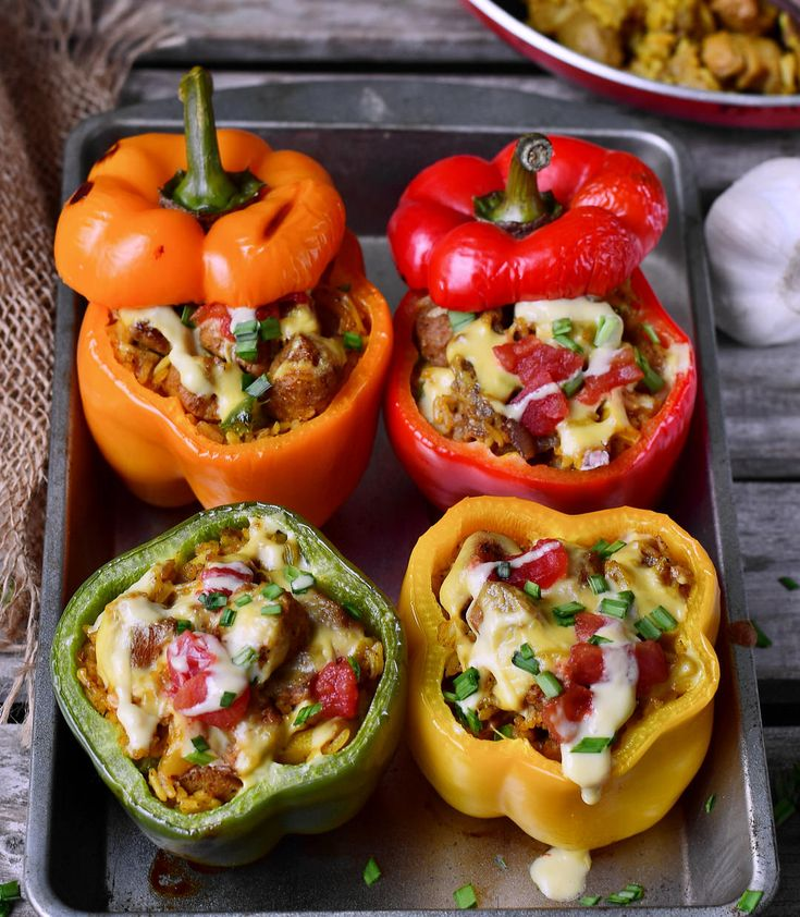 These vegan stuffed peppers are filled with healthy ingredients and are rich in protein. The recipe is gluten-free, plant-based, easy to make and very tasty